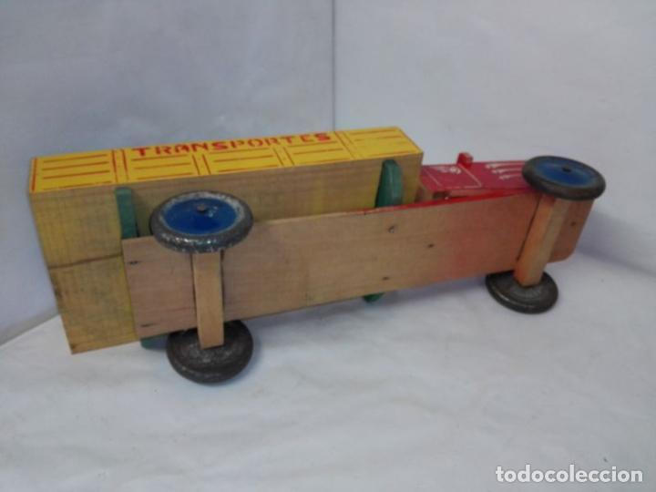 Juguetes antiguos: Camion de madera de Denia, con conductor, tamaño grande 42 cms. Buen estado. Años 40/50 - Foto 5 - 107111979