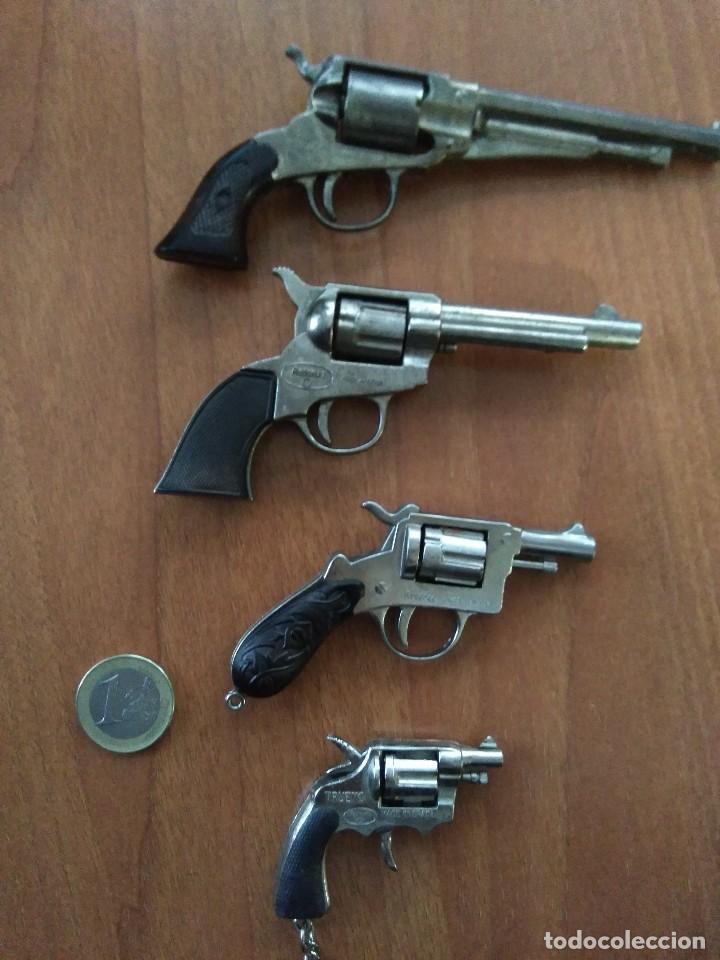 Juguetes antiguos: Lote de antiguas pistolas detonadoras de juguete de la marca redondo - Foto 6 - 108450567