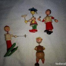 Juguetes antiguos: LOTE 4 FIGURAS DE GAULA MADE SPAIN AÑOS 60. Lote 109205955
