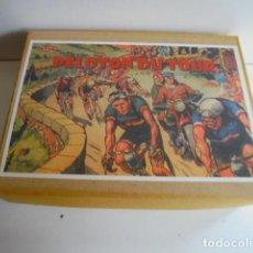 Juguetes antiguos: CAJA CICLISTA DEL TOUR DE FRANCIA PUBLICIDAD ESSO RARO. Lote 113599195