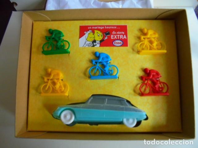Juguetes antiguos: caja ciclista del Tour de Francia publicidad ESSO RARO - Foto 3 - 113599195