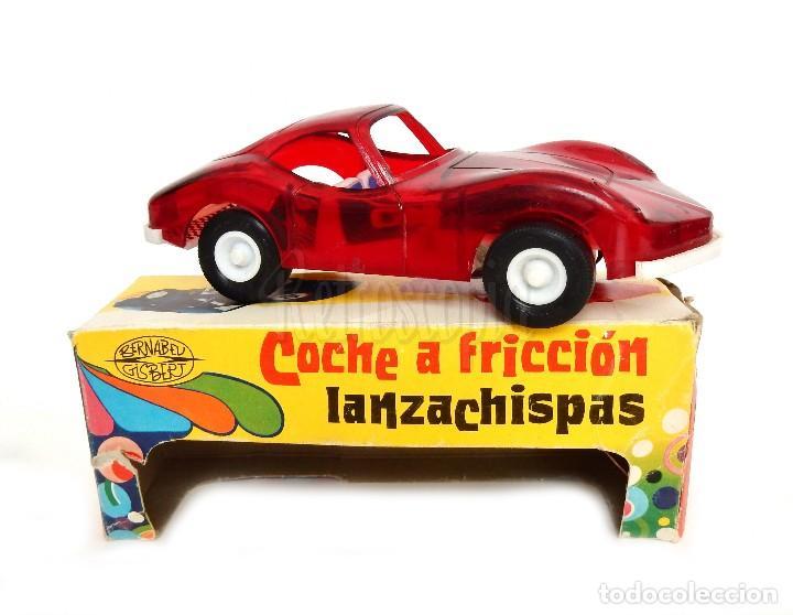 Juguetes antiguos: COCHE TIPO PORSCHE A FRICCION DE PLASTICO LANZA CHISPAS (LANZACHISPAS) DE BERNABEU GISBERT AÑOS 60 - Foto 2 - 114111199