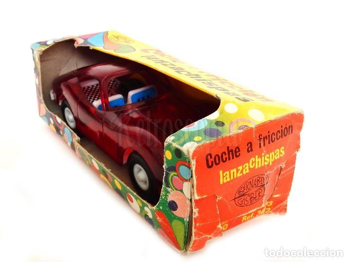 Juguetes antiguos: COCHE TIPO PORSCHE A FRICCION DE PLASTICO LANZA CHISPAS (LANZACHISPAS) DE BERNABEU GISBERT AÑOS 60 - Foto 7 - 114111199