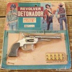 Juguetes antiguos: REVOLVER DETONADOR BITOY. Lote 114144839