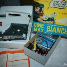 Brinquedos antigos: CINE MAX BIANCHI, NO PROBADO. CAJA CON PELICULAS, DESCONOZCO COMO ESTAN. Lote 114350271