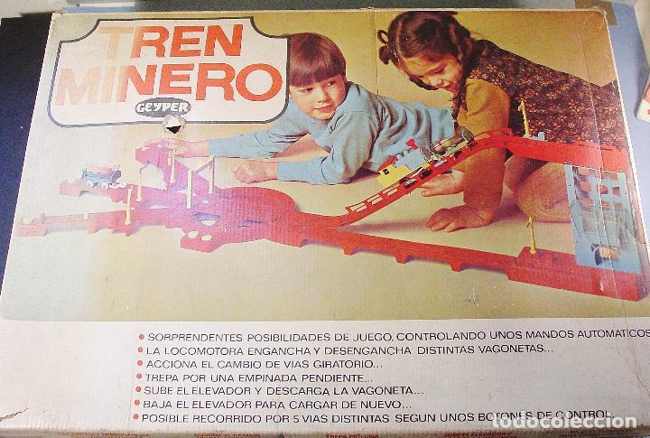 Juguetes antiguos: TREN MINERO GEYPER. AÑOS 70. FUNCIONANDO. CAJA ORIGINAL - Foto 7 - 114979359