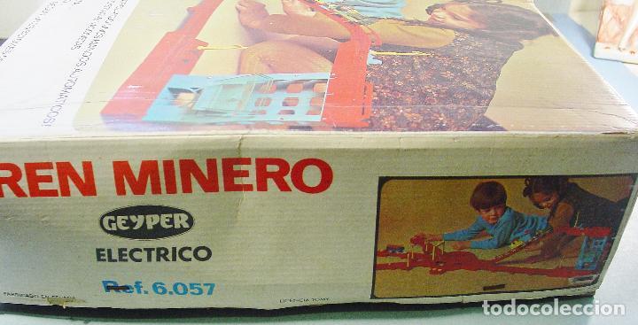 Juguetes antiguos: TREN MINERO GEYPER. AÑOS 70. FUNCIONANDO. CAJA ORIGINAL - Foto 10 - 114979359