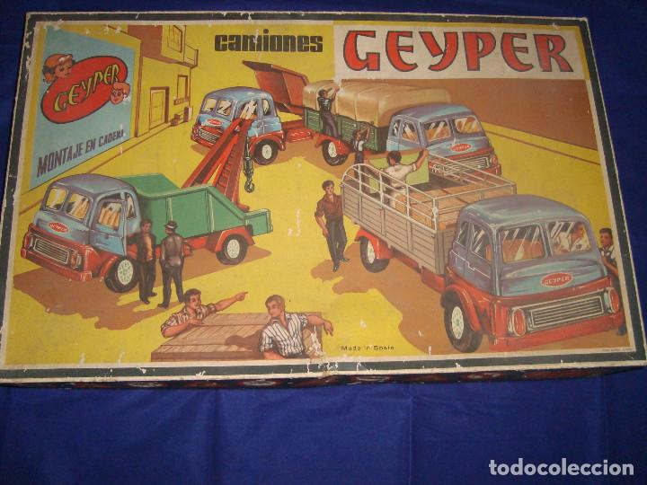 Juguetes antiguos: ANTIGUA CAJA CAMIONES GEYPER 502 - Foto 4 - 147280398