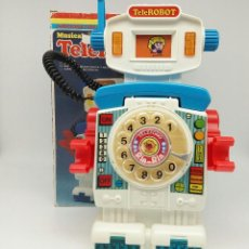 Juguetes antiguos: TELÉFONO TELEROBOT MUSICAL DE RIMA REFERENCIA 1085. Lote 116703003