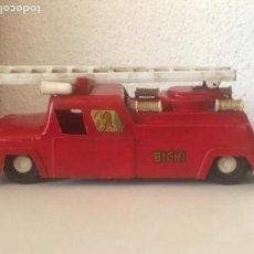 Juguetes antiguos - Antiguo Camión De Bomberos Bichi a Fricción 1960'S - 117541795