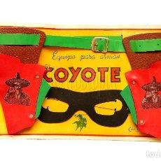Juguetes antiguos: SET BLISTER DE CARTON EQUIPO PARA ARMAS EL COYOTE DE GEYPER AÑOS 50 - 60 CARTUCHERA. Lote 118634567
