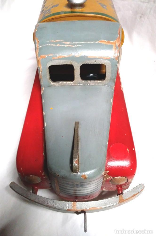 Juguetes antiguos: Camión Campsa Denia años 50 de Juan Forner Font de cuerda, Madera, Cisterna hojalata, completo. - Foto 5 - 118966235