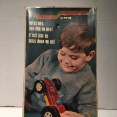 Juguetes antiguos: ANTIGUO JUGUETE BOLIDO ACROBATA DE GEYPER. Lote 120046739