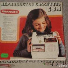Juguetes antiguos: REPRODUCTOR DE CASETES CS.1 BIANCHI , DEL AÑO 1978 . EN CAJA ORIGINAL CON INSTRUCCIONES Y SERVICIO.. Lote 120666007