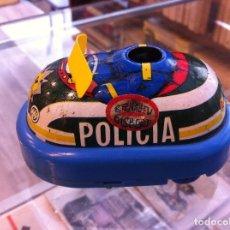 Juguetes antiguos: COCHE METÁLICO DE POLICIA A PILAS (BERNABEU GISBERT) MEDIDAS LARGO: 10CM. Lote 120743731