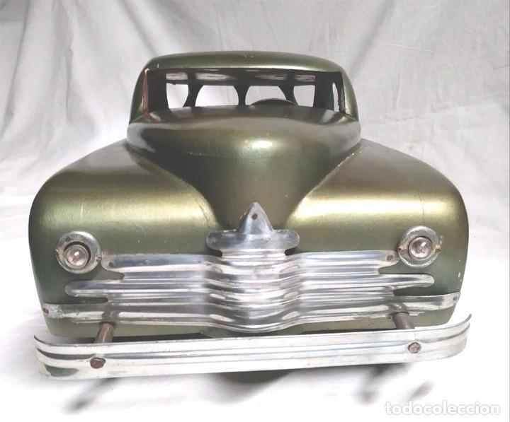 Juguetes antiguos: Sedan modelo grande con luces Juan Forner Font Denia de madera , no jugado resto tienda, años 40 . - Foto 5 - 122842355