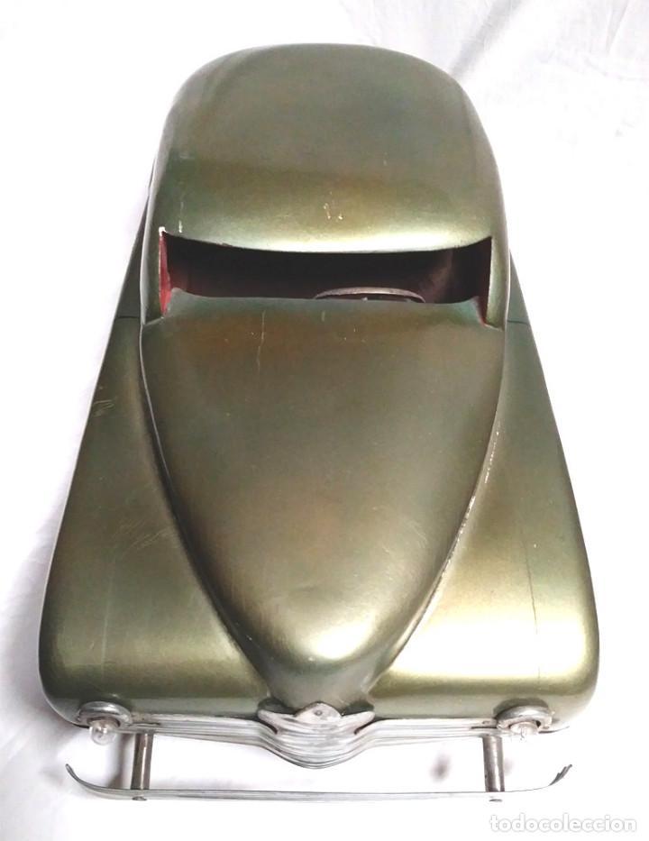 Juguetes antiguos: Sedan modelo grande con luces Juan Forner Font Denia de madera , no jugado resto tienda, años 40 . - Foto 6 - 122842355