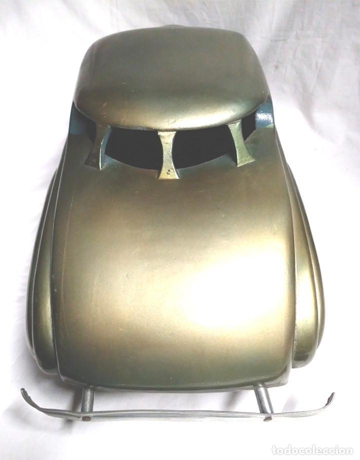 Juguetes antiguos: Sedan modelo grande con luces Juan Forner Font Denia de madera , no jugado resto tienda, años 40 . - Foto 11 - 122842355