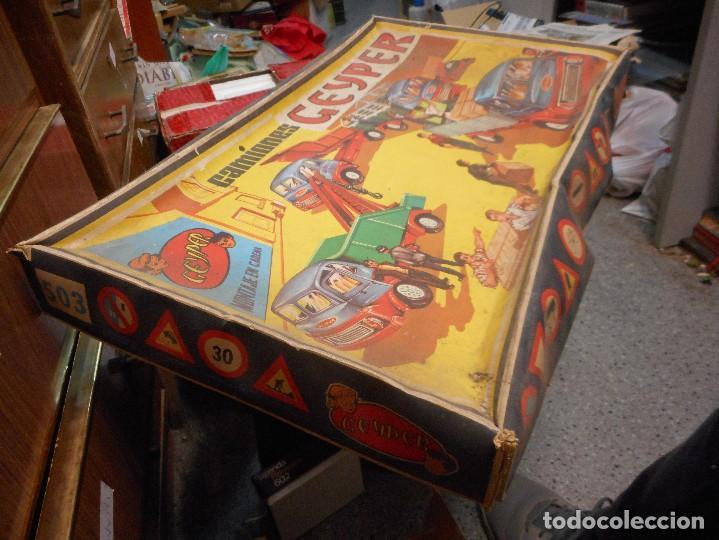 Juguetes antiguos: caja camiones geyper - Foto 2 - 124268283