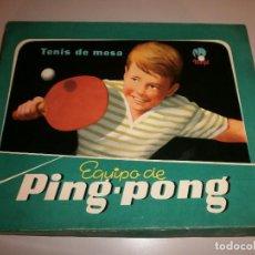 Juguetes antiguos: JUGUETES MARFIL TENIS DE MESA EQUIPO DE PING PONG. Lote 124527899