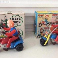 Juguetes antiguos: LOTE 2 MOTO KINTO Y MOTO YASO JUGUETES SANTA ANA IBI ESPAÑA AÑOS 60-70 A CUERDA PERFECTOS EN CAJAS. Lote 126156319