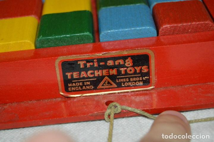 Juguetes antiguos: NOS - WOODEN CART & BRICKS - TRI ANG TEACHEM TOYS LINES BROS LTD - 1950s - VINTAGE JOYA - ENVÍO 24H - Foto 4 - 126720487