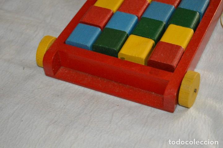 Juguetes antiguos: NOS - WOODEN CART & BRICKS - TRI ANG TEACHEM TOYS LINES BROS LTD - 1950s - VINTAGE JOYA - ENVÍO 24H - Foto 5 - 126720487