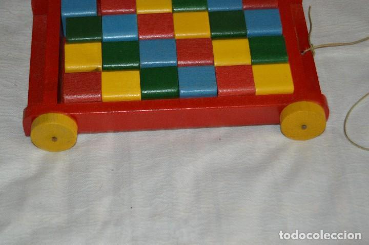 Juguetes antiguos: NOS - WOODEN CART & BRICKS - TRI ANG TEACHEM TOYS LINES BROS LTD - 1950s - VINTAGE JOYA - ENVÍO 24H - Foto 6 - 126720487
