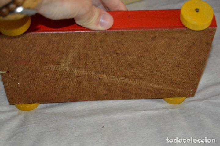 Juguetes antiguos: NOS - WOODEN CART & BRICKS - TRI ANG TEACHEM TOYS LINES BROS LTD - 1950s - VINTAGE JOYA - ENVÍO 24H - Foto 8 - 126720487