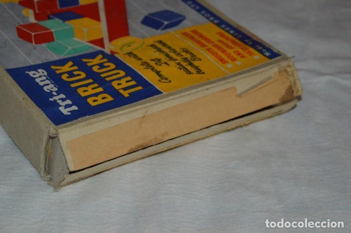 Juguetes antiguos: NOS - WOODEN CART & BRICKS - TRI ANG TEACHEM TOYS LINES BROS LTD - 1950s - VINTAGE JOYA - ENVÍO 24H - Foto 13 - 126720487