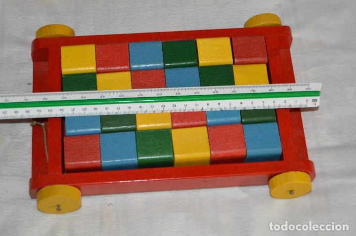 Juguetes antiguos: NOS - WOODEN CART & BRICKS - TRI ANG TEACHEM TOYS LINES BROS LTD - 1950s - VINTAGE JOYA - ENVÍO 24H - Foto 15 - 126720487