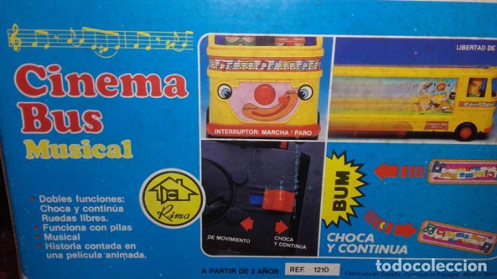 Juguetes antiguos: RIMA AUTOBUS CINEMA MUSICAL , JUGUETES RIMA, JUGUETE ANTIGUO - Foto 6 - 131367862