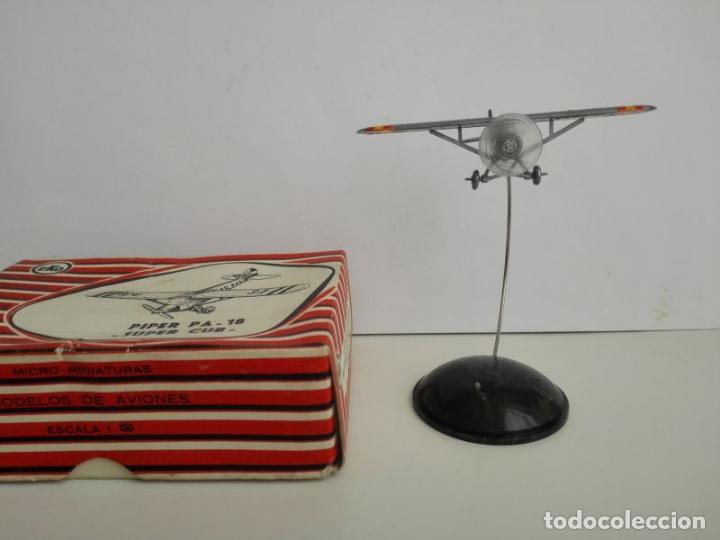 Juguetes antiguos: EKO Piper PA 18 en su caja - Foto 2 - 131581126
