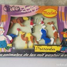 Juguetes antiguos: CIRCO ZOO MADEL LOS ANIMALES DE LAS MIL POSTURAS. Lote 131615166