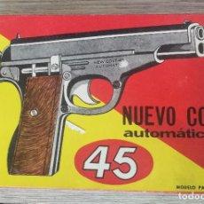 Juguetes antiguos: ANTIGUA PISTOLA DE JUGUETE - COLT AUTOMATICO 45 - CON SUS BALINES ORIGINALES - FUNCIONANDO - CEFA -A. Lote 131866990
