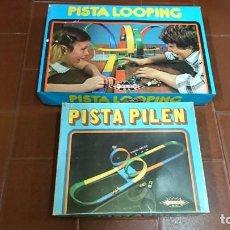 Juguetes antiguos: PISTA LOOPING DE PILEN COMPLETA MÁS AMPLIACION. Lote 132456554