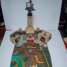 Juguetes antiguos: -BASE NOCTURNA DE MICROMACHINES-LEWIS GALOOB TOYS-1995. Lote 132915334