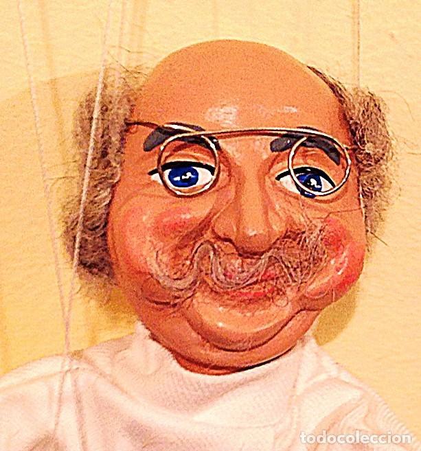 Juguetes antiguos: Marioneta Antigua Medico Dentista Medida 39 Figura Con Los Hilos 75CM - Foto 2 - 135051530