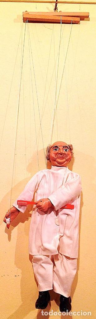 Juguetes antiguos: Marioneta Antigua Medico Dentista Medida 39 Figura Con Los Hilos 75CM - Foto 4 - 135051530