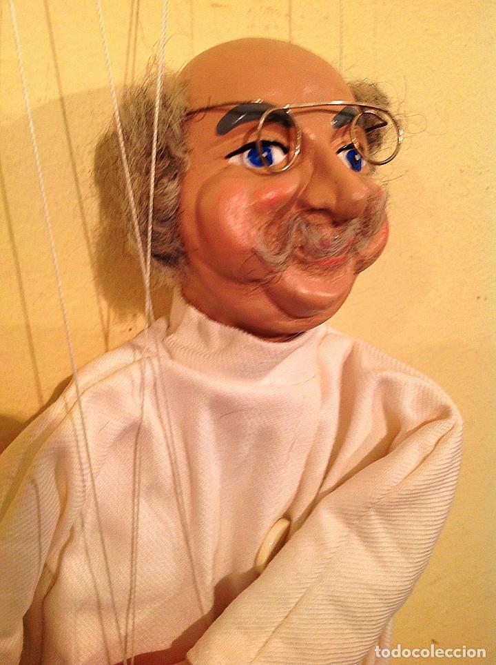 Juguetes antiguos: Marioneta Antigua Medico Dentista Medida 39 Figura Con Los Hilos 75CM - Foto 5 - 135051530