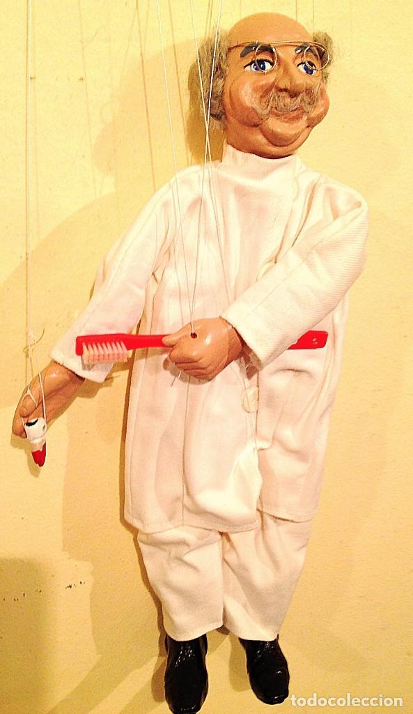Juguetes antiguos: Marioneta Antigua Medico Dentista Medida 39 Figura Con Los Hilos 75CM - Foto 6 - 135051530