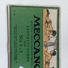 Juguetes antiguos: CATALOGO INSTRUCCIONES MECCANO MODELO DE 0 A 3,NO SIRVE PARA METALIX,TENTE.. Lote 135592998