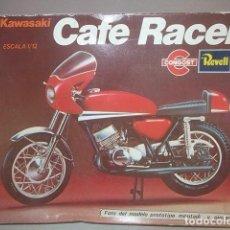 Brinquedos antigos: ANTIGUA KAWASAKI CAFE RACER DE REVELL CONGOST A ESTRENAR RESTO DE TIENDA,BARATA. Lote 135945738