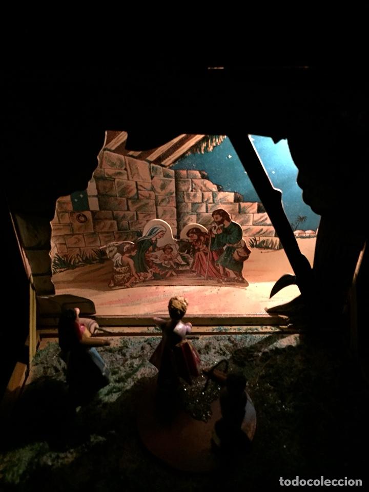 Juguetes antiguos: Antigua caja musical Reig, Nacimiento, belén y reyes magos. Años 40. Ibi, Alicante. Juguete antiguo - Foto 5 - 135950441