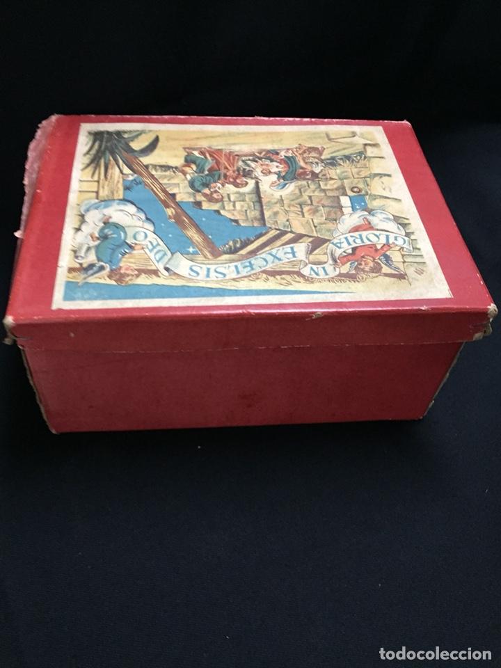 Juguetes antiguos: Antigua caja musical Reig, Nacimiento, belén y reyes magos. Años 40. Ibi, Alicante. Juguete antiguo - Foto 8 - 135950441