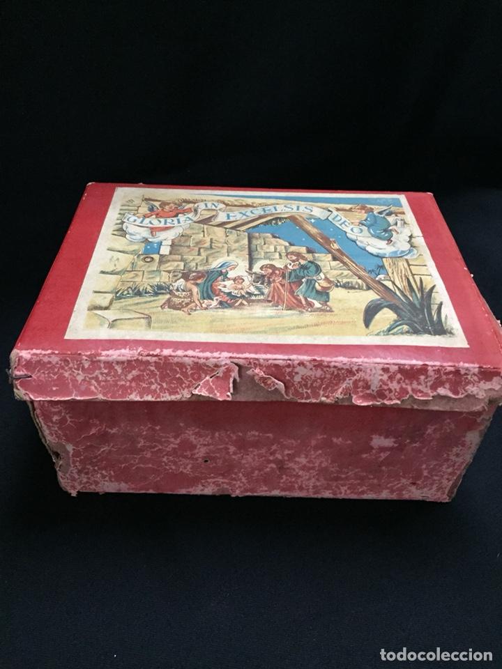 Juguetes antiguos: Antigua caja musical Reig, Nacimiento, belén y reyes magos. Años 40. Ibi, Alicante. Juguete antiguo - Foto 9 - 135950441
