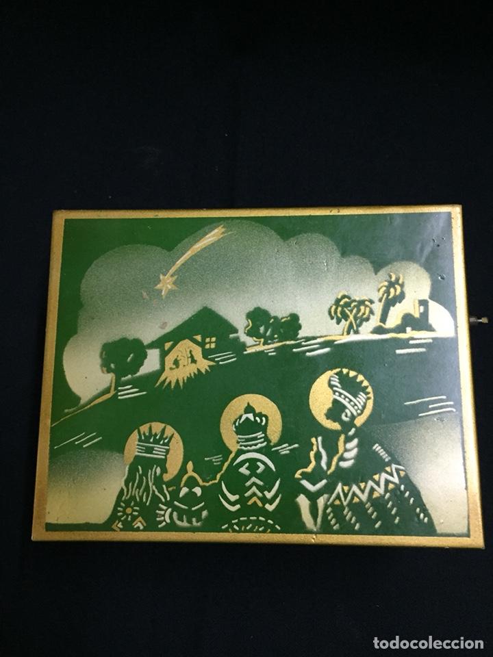 Juguetes antiguos: Antigua caja musical Reig, Nacimiento, belén y reyes magos. Años 40. Ibi, Alicante. Juguete antiguo - Foto 11 - 135950441