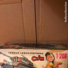 Juguetes antiguos: CLIM TANQUE LANZA-VENTOSAS TAPA DE LA CAJA ESTADO REGULAR. Lote 136423778