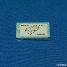 Juguetes antiguos: (M) ANGUPLAS - PUERTO CMS 6 1 TINGLADO CON CAJA, MINI SHIPS POCAS SEÑALES DE USO . Lote 136607066