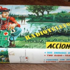 Juguetes antiguos: RADIOTELEFONO - ACCION RESCATE - BIANCHI - EN SU CAJA ORIGINAL - AÑOS 70. Lote 137683010